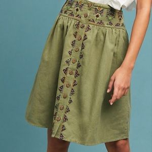 Maeve Utility Embroidered Skirt Anthropologie